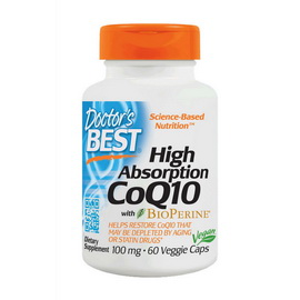 High Absorption CoQ10 with BioPerine 100 mg (60 veg caps)