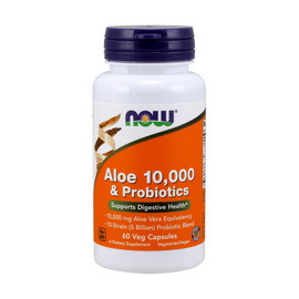 Aloe 10000 & Probiotics (60 veg caps)