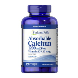 Absorbable Calcium 1200 mg Plus Vitamin D3 25 mcg (100 softgels)