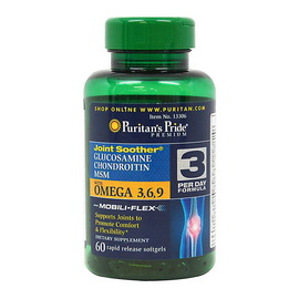 Glucosamine, Chondroitin & MSM with Omega 3,6,9 (60 softgels)