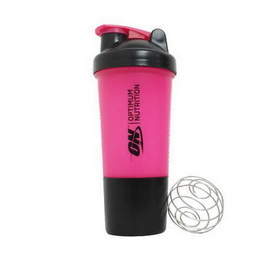 Shaker 2 in 1 with Metal Ball Black/Pink (500 ml)