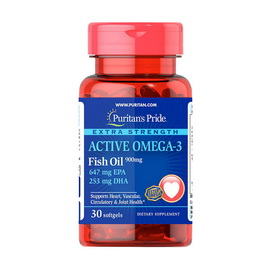 Active Omega-3 Fish Oil 900 mg (30 softgels)