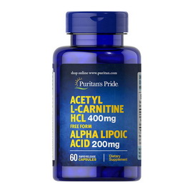 Acetyl L-Carnitine HCl with Alpha Lipoic Acid (60 caps)