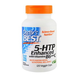 5-HTP Enhanced with Vitamins B6 and C (120 veg caps)