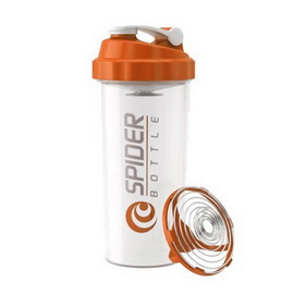 Spider Bottle Shaker Maxi Clear Orange (800 ml)