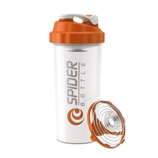 Spider Bottle Shaker Maxi Clear Orange (800 ml)