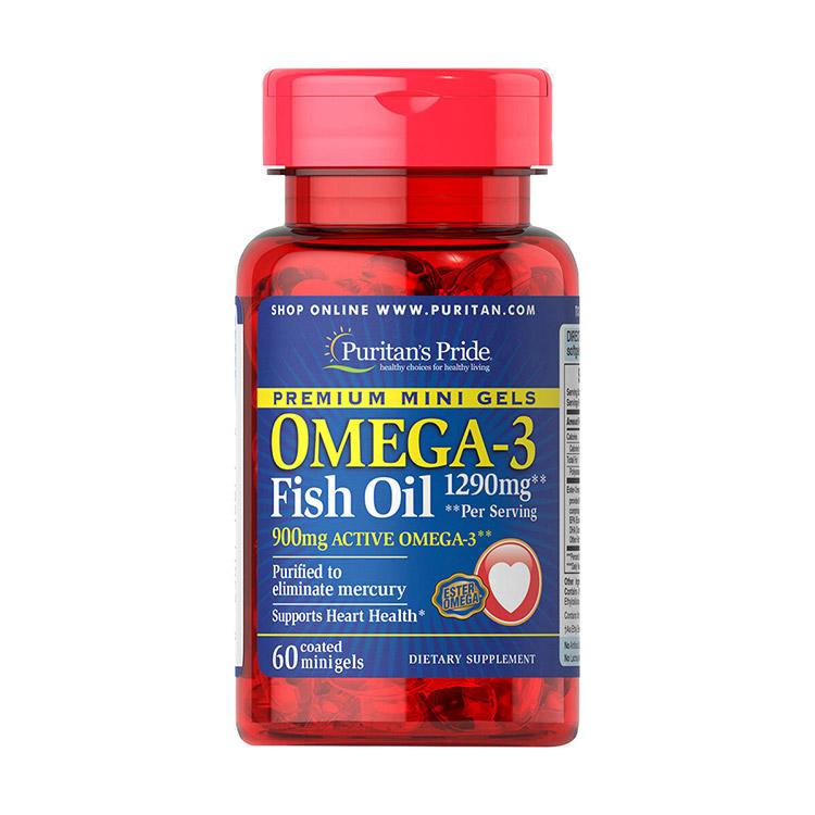 Omega-3 Fish Oil 1290 mg (60 mini gels)