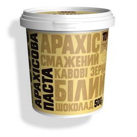 Арахисовое масло с белым шоколадом и кофейн. зернами (500 g)