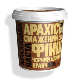 Арахисовое масло кранч с черным шоколадом и финиками (500 g)
