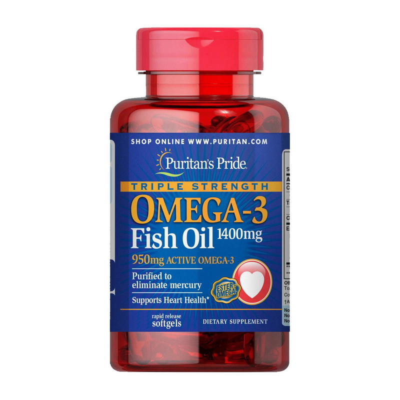 Triple Strength Omega-3 Fish Oil 1360 mg (120 softgels)