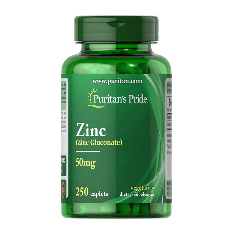 Zinc Gluconate 50 mg (250 caplets)