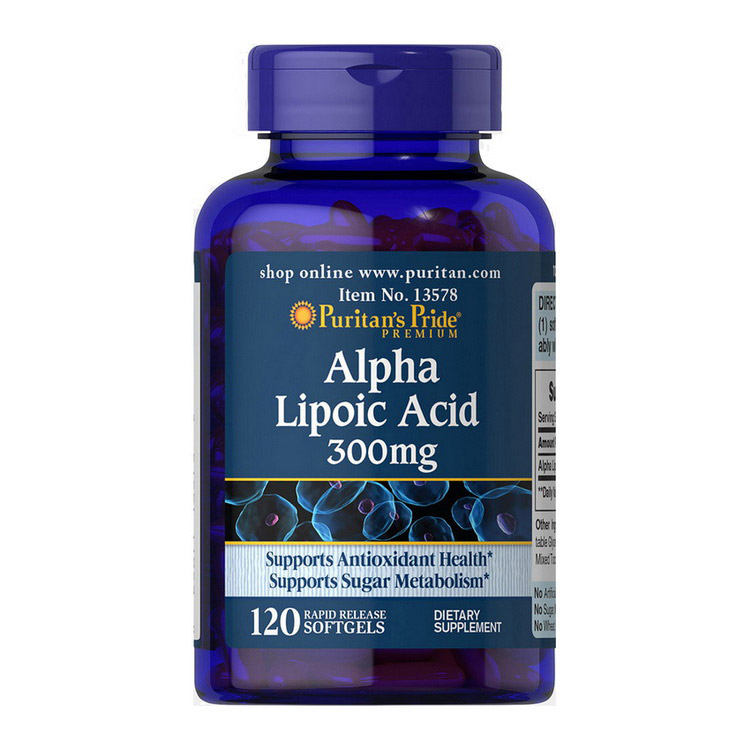 Alpha Lipoic Acid 300 mg (120 softgels)