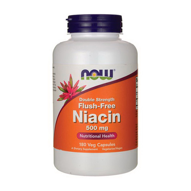Niacin 500 mg Flush-Free Double Strength (180 veg caps)
