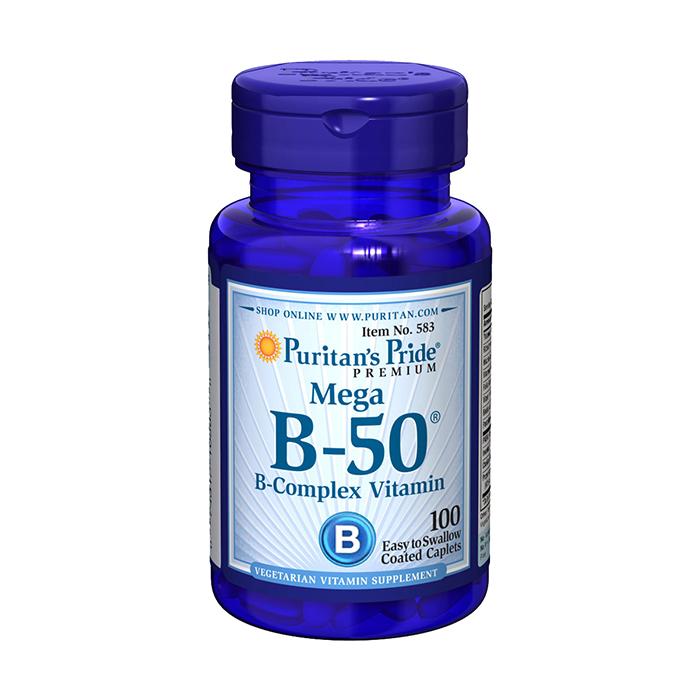 Mega B-50 B-Complex Vitamin (100 caplets)