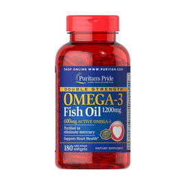 Omega-3 Fish Oil 1200 mg Double Strength (180 softgels)