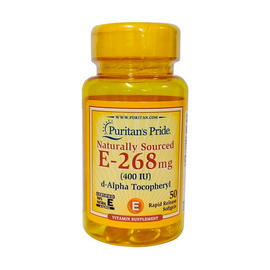 E-268 mg (400 IU) Naturally Sourced (50 softgels)