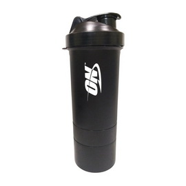 Shaker ON 3 in 1 with Metal Ball Gunsmoke Black (600 ml)