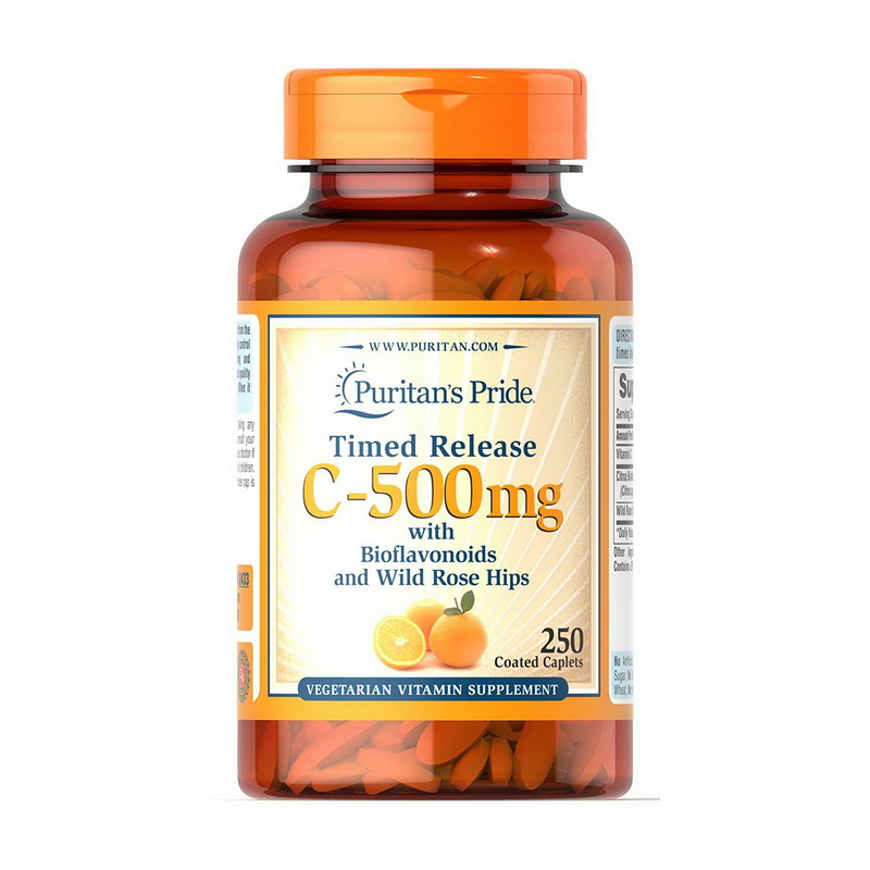 Vitamin C-500 mg with Bioflavon. and Rose Hips (250 caplets)