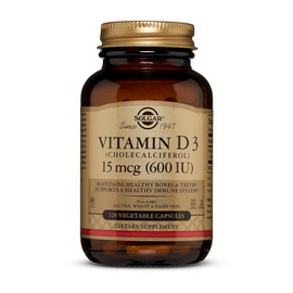 Vitamin D3 600 IU (120 veg caps)