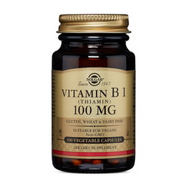 Vitamin B-1 100 mg (100 veg caps)