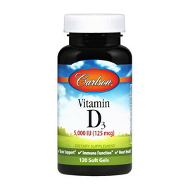 Vitamin D3 5000 IU (120 softgels)