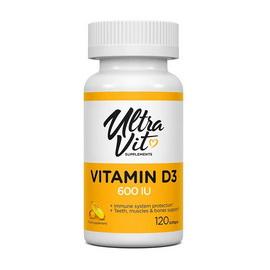 Vitamin D3 600 IU (120 softgels)