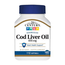 Norwegian Cod Liver Oil 400 mg (110 softgels)