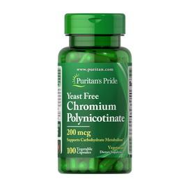 Chromium Polynicotinate 200 mcg Yeast Free (100 veg caps)