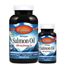 Salmon Oil 500 mg Omega-3s (180+50 softgels)