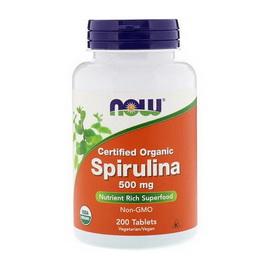 Spirulina 500 mg Certified Organic (200 tabs)