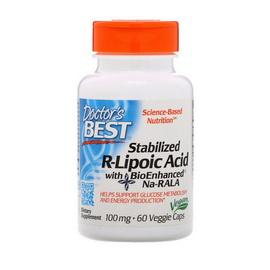 Stabilized R-Lipoic Acid 100 mg (60 veg caps)