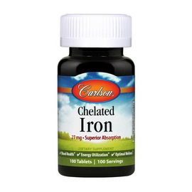 Chelated Iron 27 mg (100 tabs)