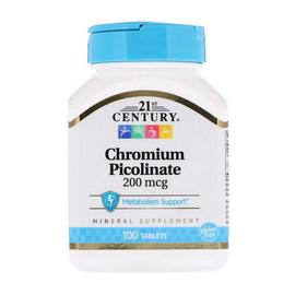 Chromium Picolinate 200 mcg (100 tabs)