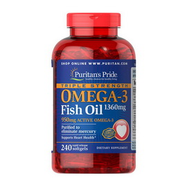 Triple Strength Omega-3 Fish Oil 1360 mg (240 softgels)