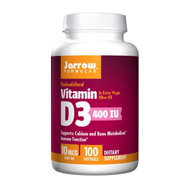 Vitamin D3 10 mcg (400 UI) (100 softgels)