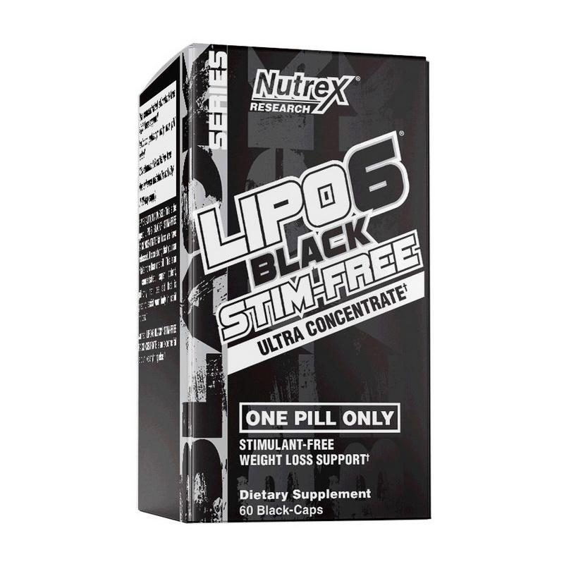 Lipo 6 Black Stim-Free (60 black caps)