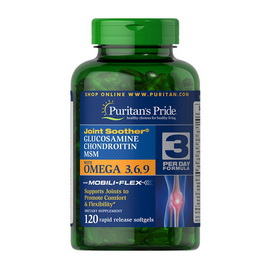Glucosamine, Chondroitin & MSM with Omega 3,6,9 (120 softgels)