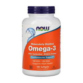 Omega-3 Odor Controlled - Enteric Coated (180 softgels)