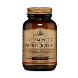 Vitamin D3 10 000 IU (120 softgels)