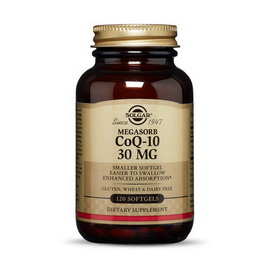 MegaSorb CoQ-10 30 mg (120 softgels)