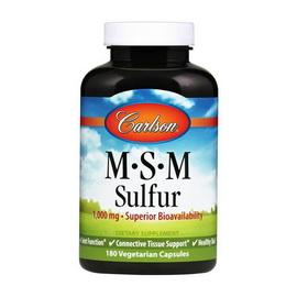 MSM Sulfur 1000 mg (180 veg caps)