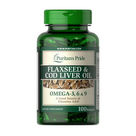 Flaxseed & Cod Liver Oil (100 softgels)