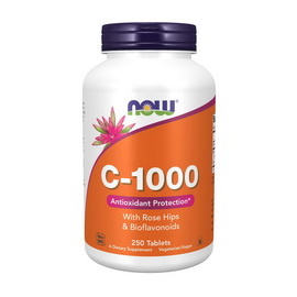 C-1000 with Rose hips & Bioflavonoids (250 tabs)