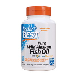 Pure Wild Alaskan Fish Oil with AlaskOmega 1000 mg (180 softgels