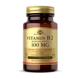 Vitamin B 2 100 mg (100 veg caps)