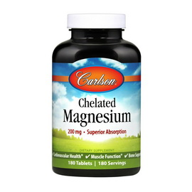 Chelated Magnesium 200 mg (180 tabs)