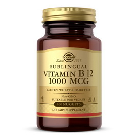 Sublingual Vitamin B 12 1000 mcg (100 nuggets)