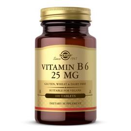 Vitamin B6 25 mg (100 tabs)