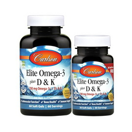 Elite Omega-3 700 mg plus D3 & K2 (60 + 30 softgels)