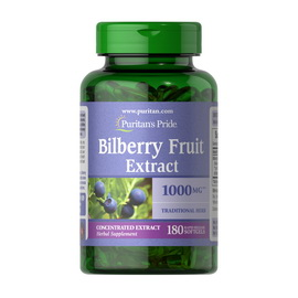 Bilberry Fruit Extract 1000 mg (180 softgels)